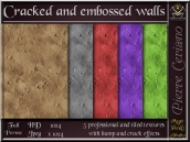 Cracked and embossed walls textures SL Add