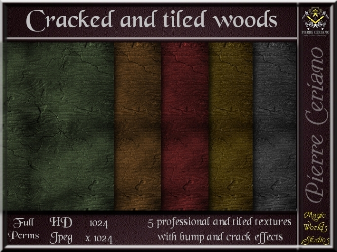 Cracked wood texture SL Add