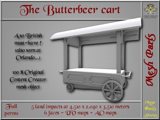 Butterbeer cart - 5 LI - FULL PERMS Mesh