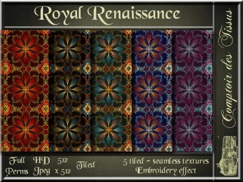 Royal Renaissance - 5 FULL PERMS Textures