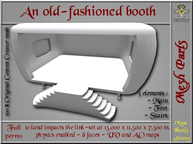 Old-fashioned booth - 10 LI - 3 FULL PERMS Meshes